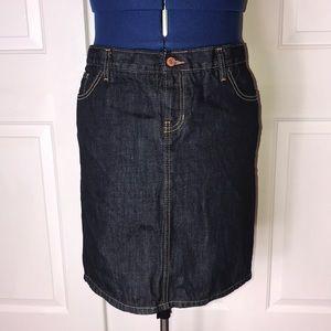 GAP 1969 16 dark wash jean skirt